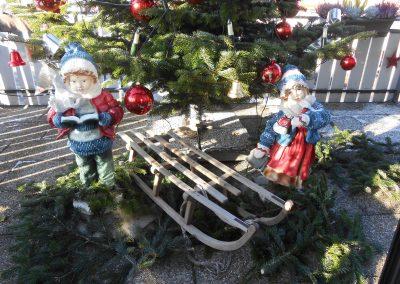 Auf der Hotelterrasse im Advent