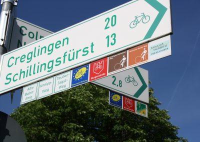 Radwege von und nach Rothenburg